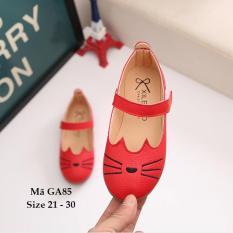 Giày Búp Bê Bé Gái 1 – 5 Tuổi Họa Tiết Mèo GA85 Đỏ