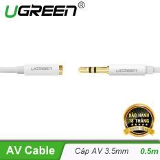 Cáp âm thanh nối dài hai đầu chuẩn 3.5mm 1 đầu đực 1 đầu cái dài 0.5M UGREEN AV121 10746 – Hãng phân phối chính thức
