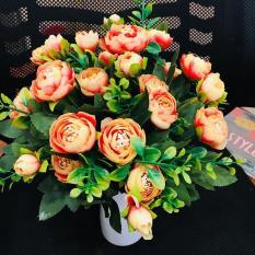 Hoa hồng Châu Âu – hoa lụa – hoa hồng giả – hoa giả trang trí tuyệt đẹp