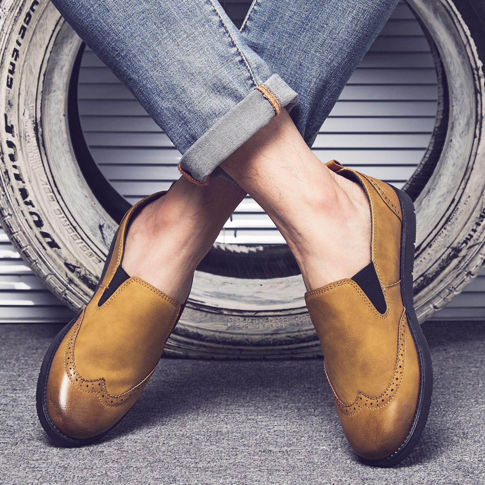 Giày lười nam, Giày da nam thời trang, Giày thể thao nam phong cách Hàn Quốc (SP15)