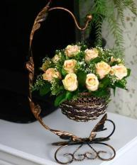 Giỏ hoa Treo phong cách Châu Âu Sang trọng