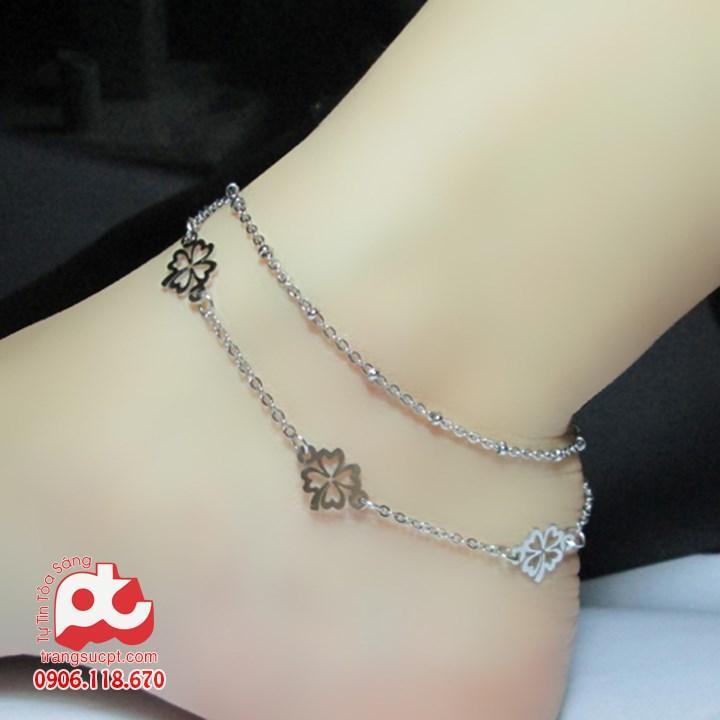Lắc chân nữ inox cao cấp sang trọng rẻ đẹp không đen HCM – TT-LCNU01