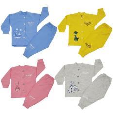 Bộ quần áo thu đông 4 màu cho trẻ em 0 – 3 tuổi thương hiệu Thái Hà Thịnh (100% cotton)