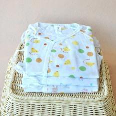 Bộ 3 áo liền quần vải xô cho bé sơ sinh đến 12 kg