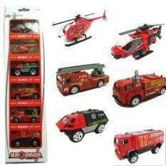 Set 6 xe Cứu hỏa Mini Cực kì tinh xảo bằng hợp kim và nhựa.