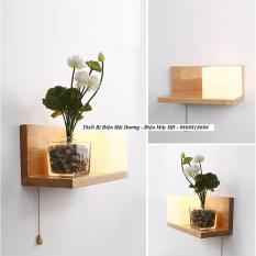 Đèn tường phòng ngủ kệ gỗ hiện đại TN150