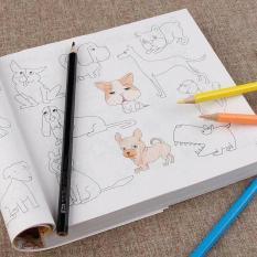Sách Tô màu 5000 hình siêu dễ thương cho bé +Tặng 12 cây bút màu