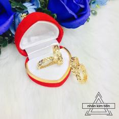 Nhẫn kim tiền nữ cao cấp mạ vàng Tinashop