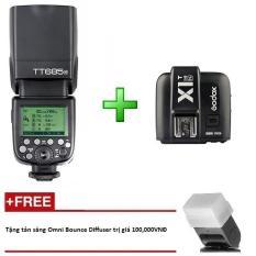 Đèn Flash Godox TT685 N Cho Nikon kèm Trigger Godox X1 tích hợp TTL, HSS 1/8000s – Tặng tản sáng Omni bouce