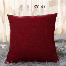 Vỏ gối tựa lưng màu đơn 40 x 40 flax linen dày E3834-149837