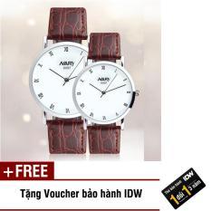 Đồng hồ nam nữ dây da thời trang Nary IDW S3561 + Tặng kèm voucher bảo hành IDW