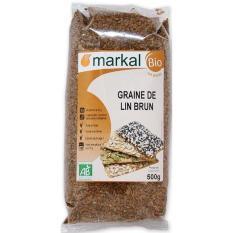 Hạt lanh nâu hữu cơ Markal Pháp 500g
