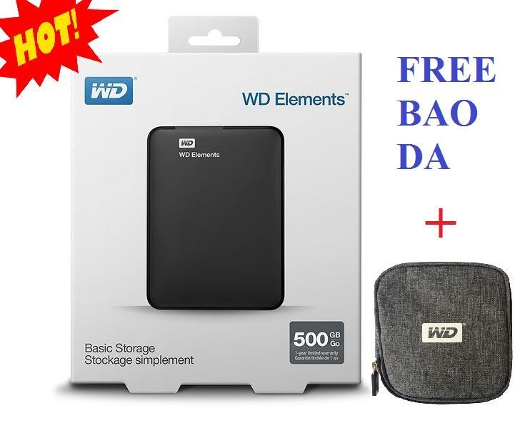 Nên mua Ổ cứng di động 500Gb WD Elements (đen) + Bao vải WD ở Nam Dũng PC