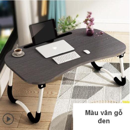 Tìm đâu Bàn Laptop, bàn học mặt gỗ, chân kim loại chống trơn trượt, có chỗ để điện thoại đa năng tiện lợi (online)