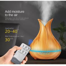 Máy xông tinh dầu bình hoa vân gỗ AROMA-500ML
