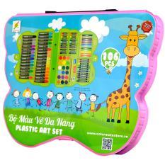 Bộ Màu Vẽ Đa Năng Hộp Nhựa CM-106PLS
