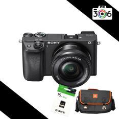 Sony Alpha A6300 24MP với Lens kit 16-50 F3.5-5.6 OSS (Đen) – Tặng thẻ nhớ 16Gb. Túi Sony