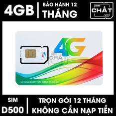 SIM Viettel DCOM 4G dùng Trọn Gói 1 Năm D500 Với 4GB/Tháng – SIM CHẤT