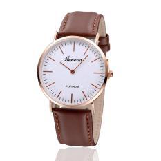 Đồng hồ nam – nữ dây giả da Geneva CG036_BR3967 (Nâu)