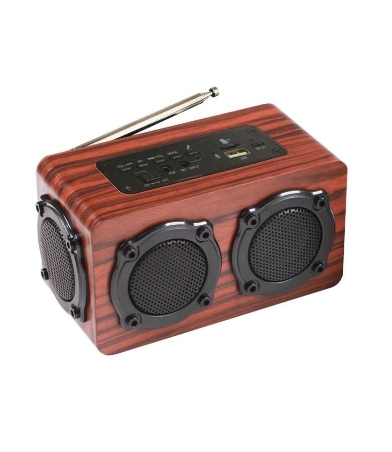 Loa gỗ Bluetooth Super Bass HIFI Stereo speaker PKCB-02