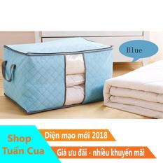 Túi đựng chăn màn quần áo kiểu ngang ( Xanh dương )