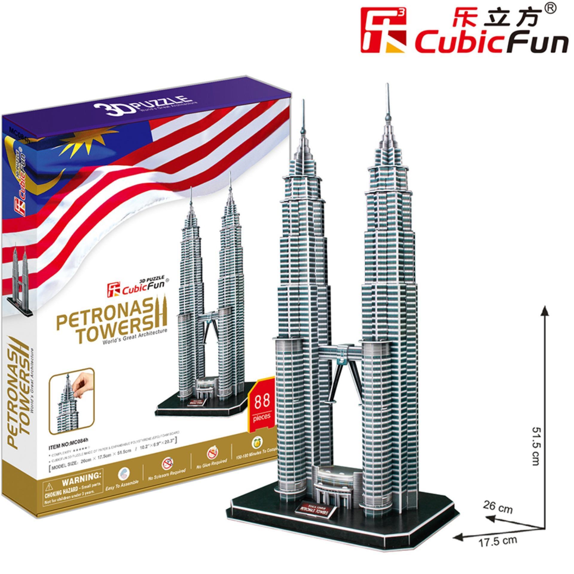 Đồ chơi xếp hình trí tuệ 3D cỡ lớn – Mô hình Tháp đôi Petronas