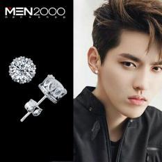 Bông tai nam ma bạc 925 Giá sỉ Thời trang Hàn Quốc đính đá Pha lê zircon kim cương nhân tạo cá tính ED048