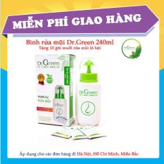 Bình rửa mũi Dr Green 240ml + Tặng 10 gói muối rửa mũi lô hội