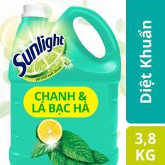 Nước rửa chén Sunlight Diệt Khuẩn chai 3.8kg