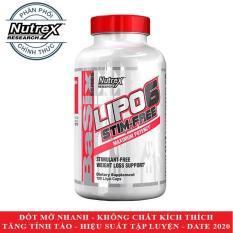 LIPO 6 Stim Free của Nutrex hỗ trợ giảm cân nhanh không kích thích tăng tỉnh táo tập trung hộp 120 viên – Phân phối chính thức