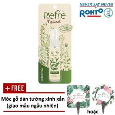 Xịt Khử Mùi Refre Natural Green Tea Hương Trà Xanh (30ml) + Tặng móc gỗ dán tường xinh xắn