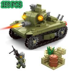 Bộ xếp hình xe tăng và bộ binh 159 chi tiết Kazi 84055 (Xanh đen) – New4all