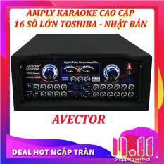Amply karaoke nghe nhạc hội thảo AVECTOR CÔNG SUẤT LỚN 7800 2400W (Tặng 2 micro không dây)