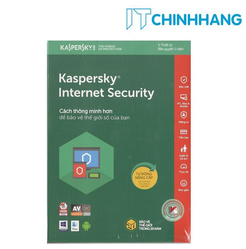 Giá PHẦN MỀM BẢO MẬT MÁY TÍNH KASPERSKY INTERNET SECURITY 5PC- HÃNG PHÂN PHỐI CHÍNH THỨC Tại IT Chính Hãng Offical Store
