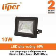Đèn LED pha 10W chống nước IP65 ánh sáng vàng LIPER LPFL-10X01-W