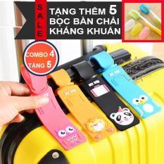 Combo 4 dây nametag đeo balô hành lý. Tặng 5 bọc bàn chải kháng khuẩn