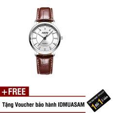 Đồng hồ nam nữ dây da thời trang Nary S3571 + Tặng kèm voucher bảo hành IDMUASAM