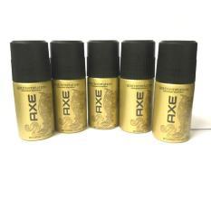 Combo 5 chai xịt khử mùi Axe 50ml (Đen hoặc Vàng) + tặng 1 túi đựng mỹ phẩm xinh xắn