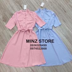 Đầm somi nữ chất kate lụa 3 màu hồng – xanh- vàng