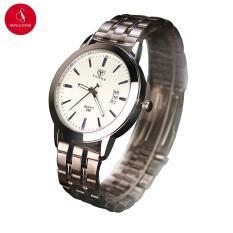 Đồng hồ nam YAZOLE 296 có lịch ngày cao cấp 41mm (Trắng) + Tặng hộp đựng đồng hồ thời trang & Pin