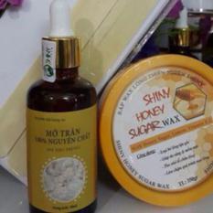 Combo triệt lông wax và mỡ trăn nguyên chất tặng kèm bộ dụng cụ wax .