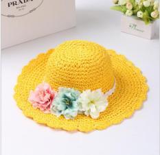 Mũ (nón) đi chơi cho bé gái M15 (Vàng)