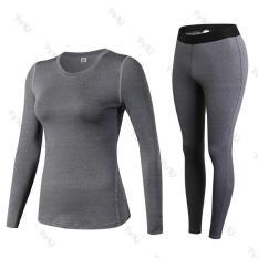 Quần áo thể thao NỮ dài tay 2in1 – 19D20, quần áo tập Yoga Gym siêu nhẹ chất vải cao cấp – POKI