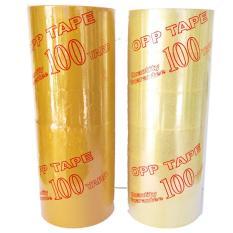Băng keo dán thùng 4.8cm – 100Yard đủ – 6 cuộn 1 cây (Trong)