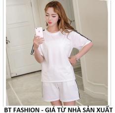Đồ Bộ Áo Thun Nữ + Quần Đùi Sọt Thun Nữ Thể Thao, Ở Nhà, Đồ Ngủ Thời Trang Hàn Quốc Mới – BT Fashion (DBTT02B-3S)
