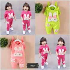 Bộ thỏ bé gái in phồng size 9-19kg