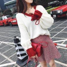 Áo len cổ tim tay phồng phong cách Hàn Quốc siêu xinh dễ thương AN032 Letter A