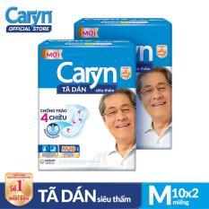 Bộ 2 gói Tã dán Caryn siêu thấm size M 10 miếng