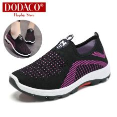 Women's fashion shoes lazy DODACO DDC2025 (Black Red Purple Gray)