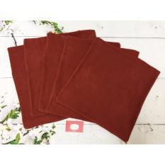 5 VỎ gối tựa lưng gối trang trí gối vuông 40 x 40 berry 5VOVDO (Đỏ Rượu)